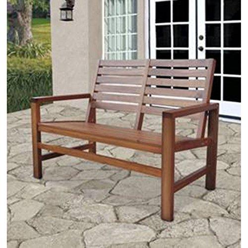 Shine Company Contemporary Garden Bench, Oak