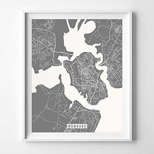 Amazon Com Mombasa Kenya City Street Map Wall Art Home