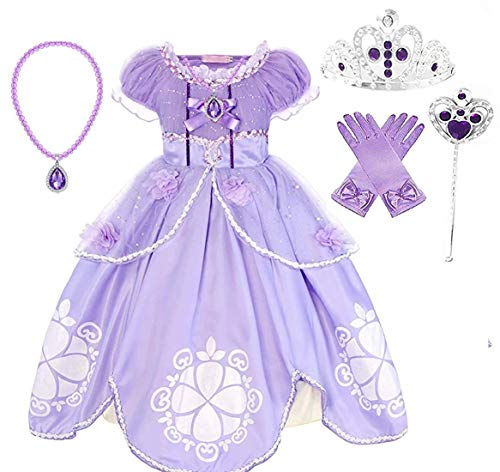 Princess Sofia Party Costume Dress Up Set (4-5) Purple