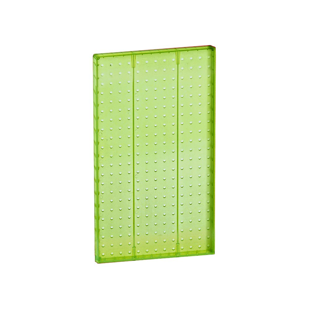 Azar 771322-GRE Pegboard 1-Sided Wall Panel, Green Translucent Color, 2-Pack