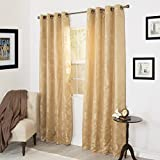 Lavish Home Cassia Jacquard Curtain Panel Set – 84 Inch Review