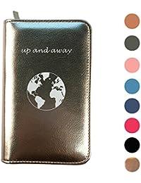 Phone Charging Passport Holder w/ Removable Power Bank -All Phones- RFID & Zipper Closure