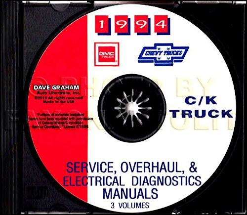 STEP-BY-STEP 1994 CHEVROLET TRUCK & PICKUP REPAIR SHOP & SERVICE MANUAL CD Includes C/K Trucks, Silverado, Cheyenne, Suburban, Blazer, Regular, Crew & Extended Cab 1500, 2500, 3500 - Chevrolet Pickup Truck Wiring