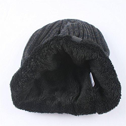 oscuro caliente Deportes azul sombrero unisex Slouchy Beanie verticales Cap terciopelo Outdor Skully rayas BaronHong qOBRv