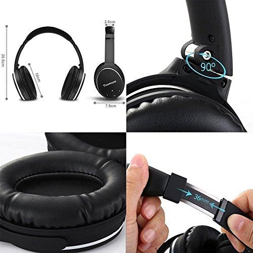 Cuffie bluetooth con active noise cancelling Tzomsze Wireless Over  Auricolari Stereo Bluetooth Headphones Headset - Nero  Amazon.it  Strumenti  musicali e DJ c7fdaf0790b7