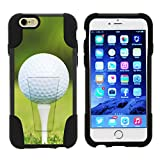 TurtleArmor | Apple iPhone 6 Case | iPhone 6s Case [Gel Max] Hybrid Impact Proof Kickstand Case Silicone Hard Dual Cover Sports and Games Design - Golf Ball Tee