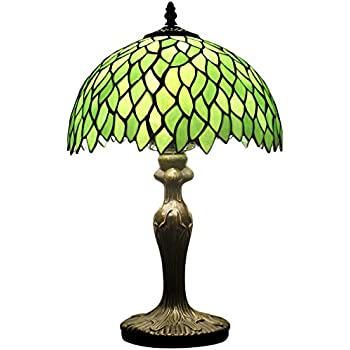 Tiffany style wisteria table lamp light s523 series 18 inch tall tiffany style wisteria table lamp light s523 series 18 inch tall green shade e26 aloadofball Image collections