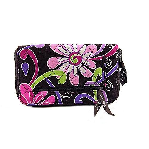 Vera Bradley Zip Around Wallet Purple Punch