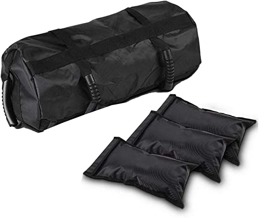 Amazon Com Adjustable Fitness Sandbag With 3 Filler Bags 6 Gripping Training Options Workout Weight Bag Exercise Sandbags For Home Gym Weights Boxing Squat Training 60lb Home Kitchen