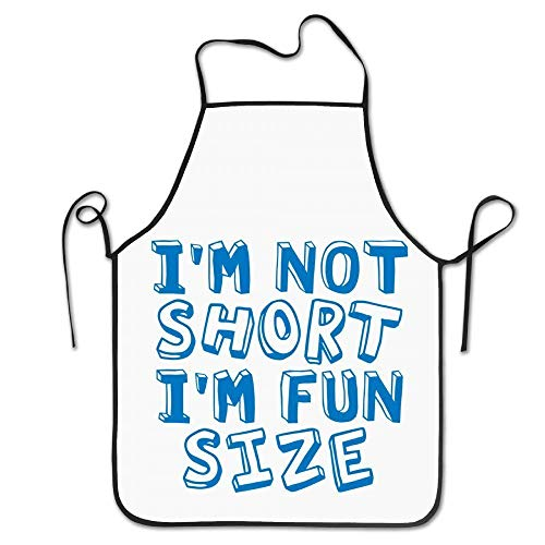 (Sandayun88x Apron Unisex I'm Not Short I'm Fun Size Funny Wordmark Kitchen)