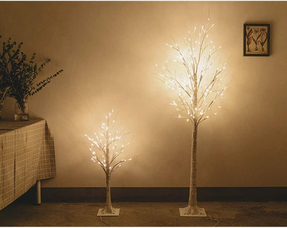 60cm Warm White Light Plastic Sequins Twig Branch Birch Trees Lights for Home Party Holiday Decoration