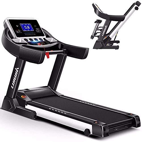 SMQHH Treadmills Cardio Training, Electric Folding Treadmill Auto Incline Running Machine 0.8-14km/h, 6 Grades of Slope…