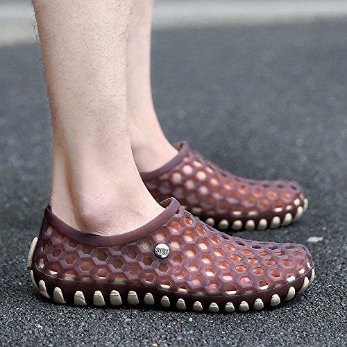 Sommer Das neue Jugend Sandalen Trend Lochschuhe Männer Strandschuhe Wild Persönlichkeit Sandalen ,braun,US=9.5?UK=9,EU=43 1/3?CN=45
