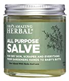 All Purpose Salve Intense Skin Treatment (Moisturizer, Ointment, Cream, Lotion) 4 oz Ora's Amazing Herbal Paraben Free Natural Hand Cream Foot Care Cuticles with Organic Coconut Oil Calendula Tea Tree