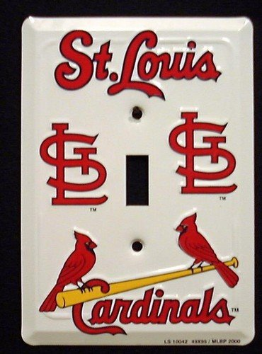 Price comparison product image St Louis Cardinals MBL Aluminum Novelty Single Light Switch Cover Plate