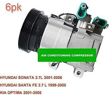 GOWE compresor de aire acondicionado para coche Santa Fe 2.7L/Sonata 2,7