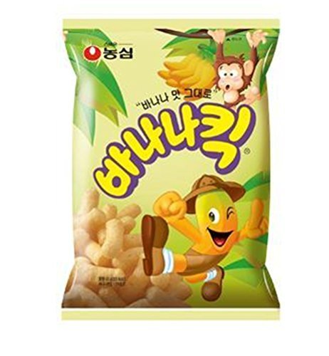 Nongshim Banana Snack,75g Bags (Pack of 3)children Nutritious Snacks Gift Party Promotion