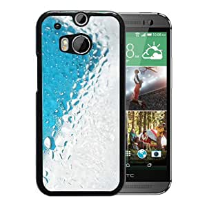 New Beautiful Custom Designed Cover Case For HTC ONE M8 With Water Drop On Glass Phone Case