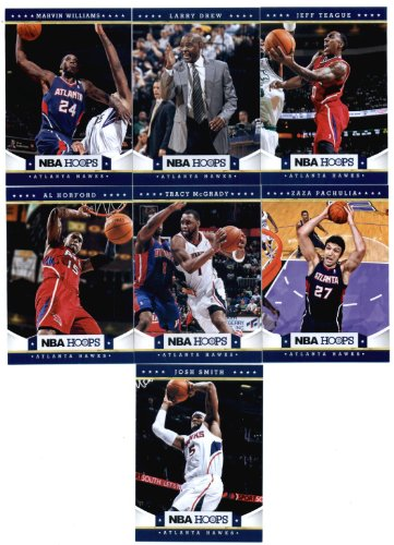2012/13 NBA Hoops Atlanta Hawks Team Set (7 Cards) Josh Smith, Al Horford, Marvin Williams, Tracy McGrady, Drew, Teague + Pachulia ()