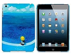 HE SHOPJimmy Cartoon Painting Hard Plastic Case for iPad Mini 2/1 (Blue)