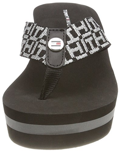 Donna Hilfiger Infradito Metallic Tommy Sandal 990 Beach Mid Nero Black xPqwwY4pS