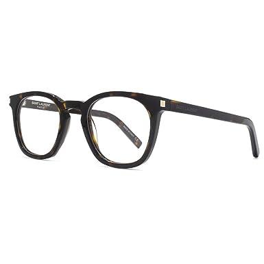f737bae6b06 Saint Laurent SL 30 Glasses in Havana SL 30 002 49 49 Clear: Amazon.co.uk:  Clothing