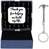 Carpentry Gifts Metal Hammer Keychain Key Tag & Gift Box Bundle