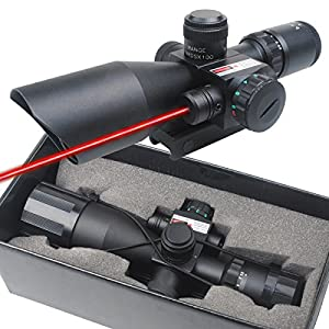 CVLIFE Hunting Rifle Scope 2.5-10x40e Red & Green Illuminated Gun Scopes with 20mm & 11mm Mount from Huihaozi