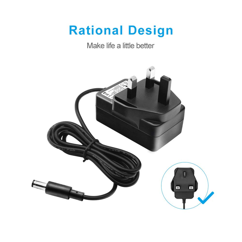 BENSN 12v 2a Power Supply Adapter AC to DC Adapter Power Cord for Router Led Strips Lights Seagate External Hard Drive CCTV Camera Yamaha Keyboards Home Appliances