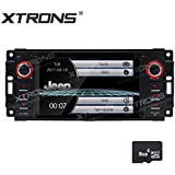 """XTRONS 6.2"""" HD Digital Touch Screen GPS Navigation Car Stereo Radio DVD Player with Screen Mirroring Function for Jeep Grand Cherokee Dodge Chrysler Sebring Map Card Included"""