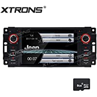 XTRONS 6.2 HD Digital Touch Screen GPS Navigation Car Stereo Radio DVD Player with Screen Mirroring Function for Jeep Grand Cherokee Dodge Chrysler Sebring Map Card Included