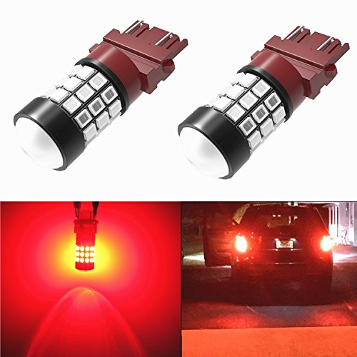 Alla Lighting 39-SMD Brilliant Pure Red 3157 3156 High Power 2835 Chipsets LED Lights Bulbs for Replacing Turn signal Blinker Brake Tail Light Lamps