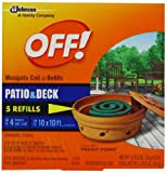 Off Mosquito Coil Refill, For Use On Patio and Decks, 5 Count, Health Care Stuffs