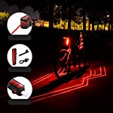 Faro de emergencia de Bicicleta de noche, lámpara de USB Carga de luces traseras, Advertencia Luz trasera brillante