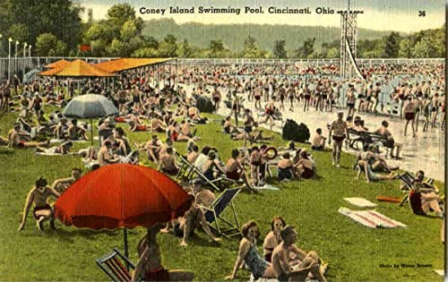 Coney Island Swimming Pool Cincinnati, Ohio OH Original Vintage Postcard at  Amazon's Entertainment Collectibles Store
