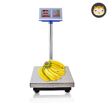 TANEL Báscula de pesaje Comercial electrónica, Precio de Unidad de Memoria 7 Báscula de pesaje Industrial del supermercado, balanza de Plataforma Pesada de ...