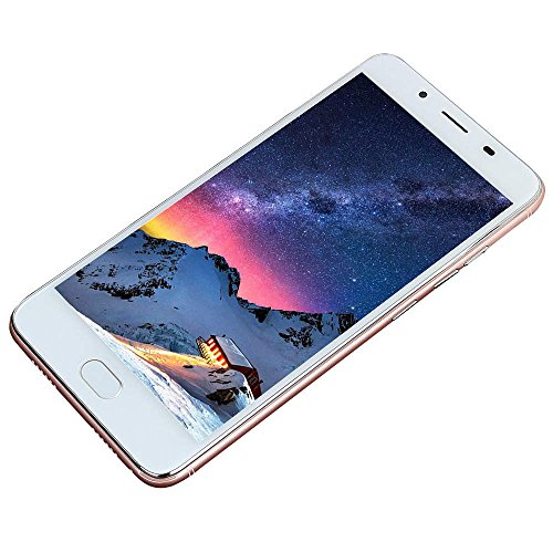 Fheaven Unlocked Cell Phone,5.5Inch Ultrathin HD Screen Android5.1 Octa-Core 512MB+4GB GSM WiFi Dual SIM Dual Camera Smart Cellphone (Rose Gold)