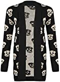 All Products : SugerDiva Skull Print Open Knitted Cardigan