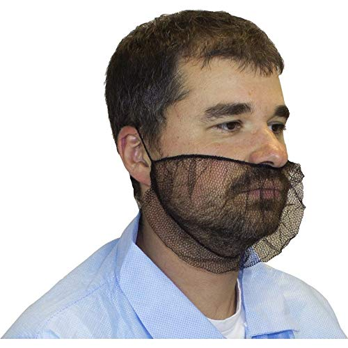 Polyester Mesh Beard Net, Brown (1000 Per Case) by The Safety Zone