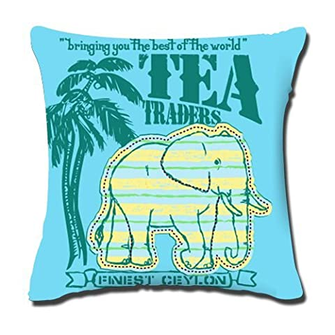 The Elephant Custom Square Zippered Pillowcase Cover Standard Size 18X18inches Two Sides