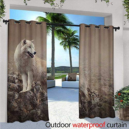 Animal Outdoor Privacy Curtain for Pergola W72