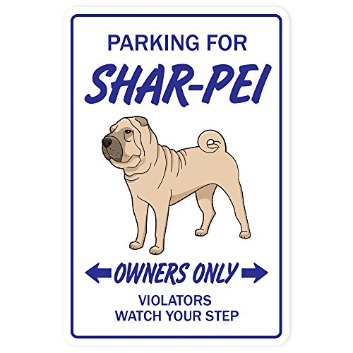 Shar Pei Novelty Sign | Indoor/Outdoor | Funny Home Décor for Garages, Living Rooms, Bedroom, Offices | SignMission Gift Kennel Veterinarian Breed Sign Wall Plaque Decoration