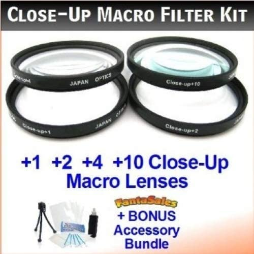 +1, +2, +4, and +10 Diopters Deluxe Filter Carry Case + BONUS UltraPro Bundle: Cleani 40.5mm Digital Pro High-Resolution Close-Up Macro Filter Set with Pouch for the Samsung NX300 with Samsung 20-50mm lens Includes Multi-Coated 4-Pc Close-Up Macro Set