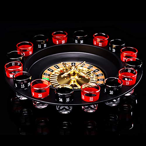Joyibay Drinking Game Set Creative Shot Roulette Game Wheel Roulette for KTV Bar Party]()
