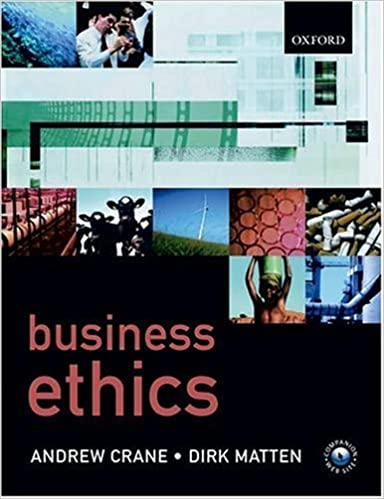 Book Business Ethics by Andrew Crane (2003-10-23)