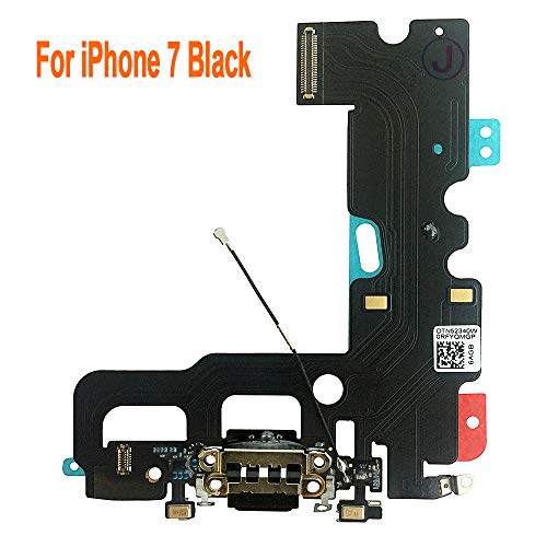 Johncase USB Charging Port Dock Connector Flex Cable + Microphone + Cellular Antenna Replacement Part Compatible with iPhone 7 4.7