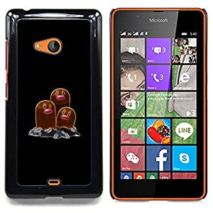 - Poke Monster Brown/ Hard Snap On Cell Phone Case Cover - Cao - For Microsoft Nokia Lumia 540 N540