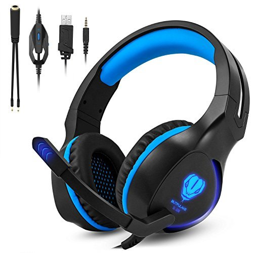 51o6n4MxpxL - Zenoplige Gaming Headset for Xbox One PS4 PlayStation 4 Wired Over Ear Headphones with Mic and LED lights, Adjustable/Volume Control for Laptop, PC, Mac, Smartphones, Nintendo Switch Games