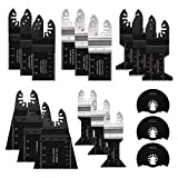 Wood Metal Oscillating Multi Tool Quick Release Saw Blades, WOKOKO 18Pcs Fit Dewalt Fein Multimaster Bosch Dremel Makita Milwaukee Rockwell Ryobi Porter Cable Black & Decker Craftsman Ridgid