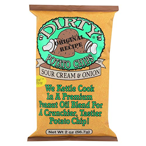 Dirty Potato Chips, Potato Chips Sour Cream Creole Onion, 2 Ounce